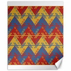 Aztec traditional ethnic pattern Canvas 11  x 14