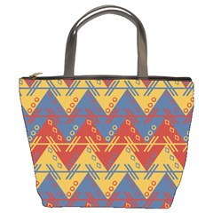 Aztec Traditional Ethnic Pattern Bucket Bags