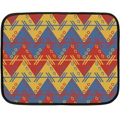Aztec traditional ethnic pattern Double Sided Fleece Blanket (Mini)