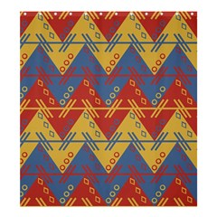 Aztec Traditional Ethnic Pattern Shower Curtain 66  X 72  (large)