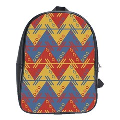 Aztec traditional ethnic pattern School Bags(Large)