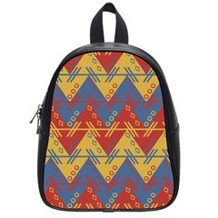 Aztec traditional ethnic pattern School Bags (Small)