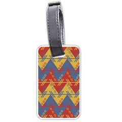 Aztec Traditional Ethnic Pattern Luggage Tags (one Side)