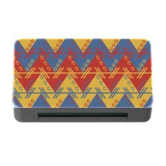Aztec traditional ethnic pattern Memory Card Reader with CF