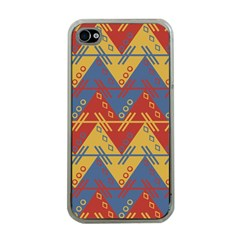Aztec Traditional Ethnic Pattern Apple Iphone 4 Case (clear)