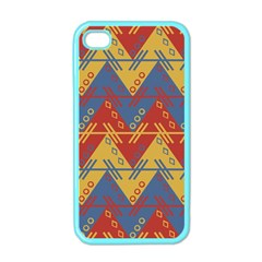 Aztec traditional ethnic pattern Apple iPhone 4 Case (Color)