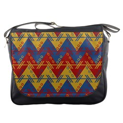 Aztec traditional ethnic pattern Messenger Bags