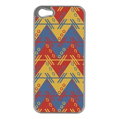 Aztec Traditional Ethnic Pattern Apple Iphone 5 Case (silver)