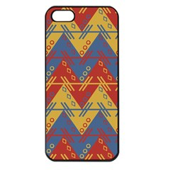 Aztec Traditional Ethnic Pattern Apple Iphone 5 Seamless Case (black)