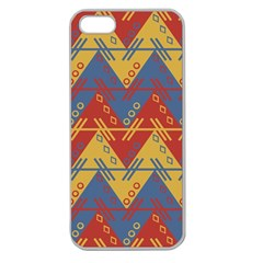 Aztec traditional ethnic pattern Apple Seamless iPhone 5 Case (Clear)