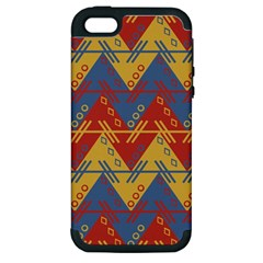 Aztec Traditional Ethnic Pattern Apple Iphone 5 Hardshell Case (pc+silicone)