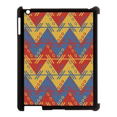 Aztec Traditional Ethnic Pattern Apple Ipad 3/4 Case (black)
