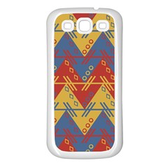 Aztec traditional ethnic pattern Samsung Galaxy S3 Back Case (White)