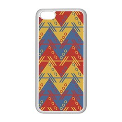 Aztec Traditional Ethnic Pattern Apple Iphone 5c Seamless Case (white)