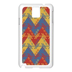 Aztec traditional ethnic pattern Samsung Galaxy Note 3 N9005 Case (White)