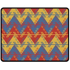 Aztec traditional ethnic pattern Double Sided Fleece Blanket (Medium)