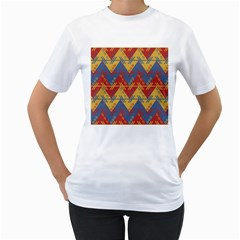 Aztec Traditional Ethnic Pattern Women s T Shirt (white)
