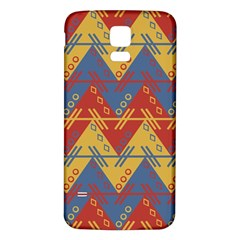 Aztec traditional ethnic pattern Samsung Galaxy S5 Back Case (White)