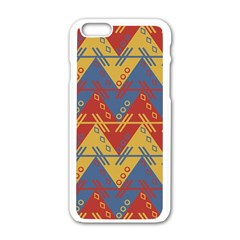 Aztec traditional ethnic pattern Apple iPhone 6/6S White Enamel Case