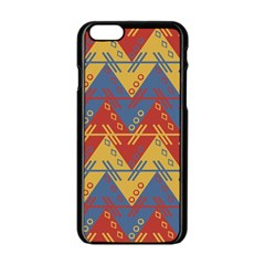 Aztec traditional ethnic pattern Apple iPhone 6/6S Black Enamel Case