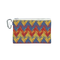 Aztec traditional ethnic pattern Canvas Cosmetic Bag (S)