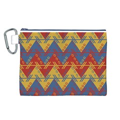 Aztec traditional ethnic pattern Canvas Cosmetic Bag (L)