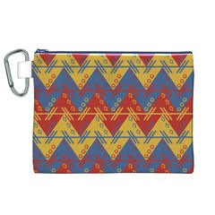 Aztec traditional ethnic pattern Canvas Cosmetic Bag (XL)