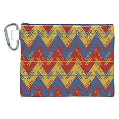 Aztec Traditional Ethnic Pattern Canvas Cosmetic Bag (xxl)