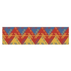 Aztec Traditional Ethnic Pattern Satin Scarf (oblong)
