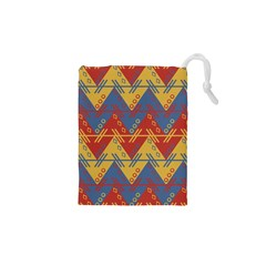 Aztec Traditional Ethnic Pattern Drawstring Pouches (xs)