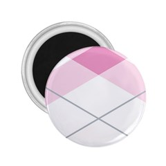 Tablecloth Stripes Diamonds Pink 2.25  Magnets