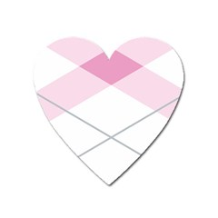 Tablecloth Stripes Diamonds Pink Heart Magnet