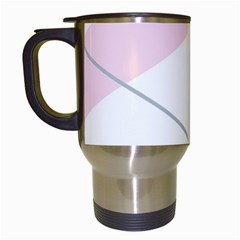 Tablecloth Stripes Diamonds Pink Travel Mugs (white)