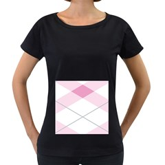 Tablecloth Stripes Diamonds Pink Women s Loose Fit T Shirt (black)