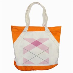 Tablecloth Stripes Diamonds Pink Accent Tote Bag