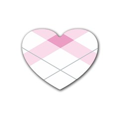 Tablecloth Stripes Diamonds Pink Heart Coaster (4 Pack)