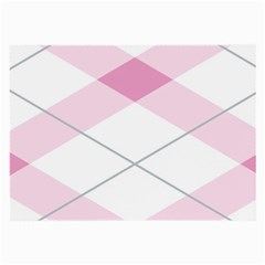 Tablecloth Stripes Diamonds Pink Large Glasses Cloth (2 Side)