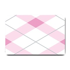 Tablecloth Stripes Diamonds Pink Small Doormat