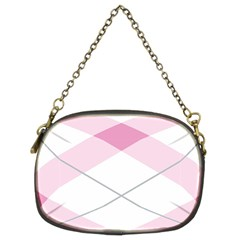 Tablecloth Stripes Diamonds Pink Chain Purses (two Sides)