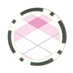 Tablecloth Stripes Diamonds Pink Poker Chip Card Guard (10 pack)