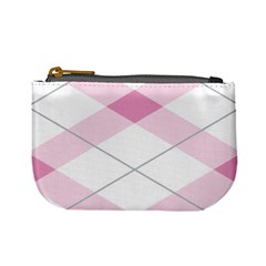 Tablecloth Stripes Diamonds Pink Mini Coin Purses