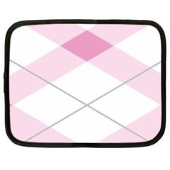 Tablecloth Stripes Diamonds Pink Netbook Case (XL)