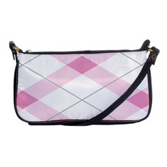Tablecloth Stripes Diamonds Pink Shoulder Clutch Bags