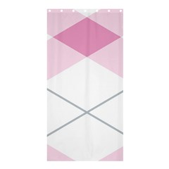 Tablecloth Stripes Diamonds Pink Shower Curtain 36  X 72  (stall)