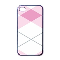 Tablecloth Stripes Diamonds Pink Apple Iphone 4 Case (black)