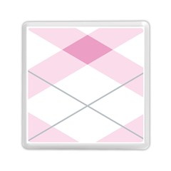 Tablecloth Stripes Diamonds Pink Memory Card Reader (Square)