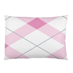 Tablecloth Stripes Diamonds Pink Pillow Case (two Sides)
