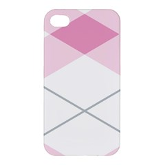 Tablecloth Stripes Diamonds Pink Apple Iphone 4/4s Hardshell Case