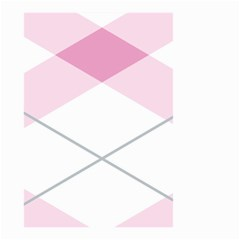 Tablecloth Stripes Diamonds Pink Small Garden Flag (Two Sides)