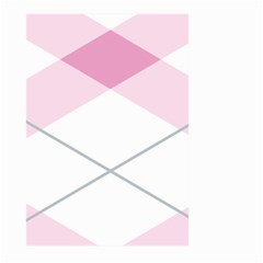Tablecloth Stripes Diamonds Pink Large Garden Flag (Two Sides)